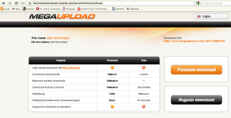 fake megaupload