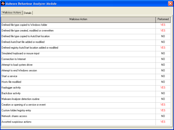 malware analyzer screenshot