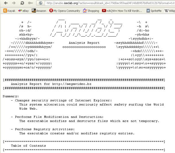 anubis report