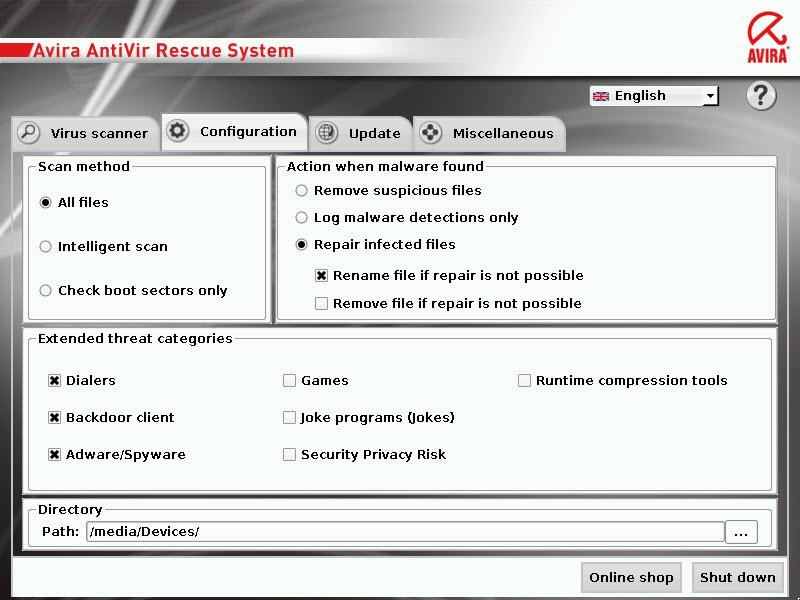 avira_rescue_system_configuration